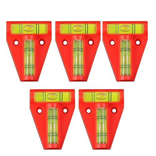 5x Mini T-Level Bubble Level Measuring Tools, Level Degree Mark, Spirit Bubble Cross-Check Levels for Machines, Furniture, Trailers, Tripods, Camera Equipment Measure