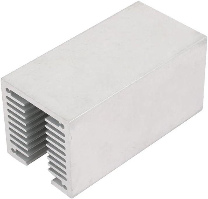 Aexit Aluminium Heatsink Transmission Heat Diffuse Cooling Fin Cooler Silver Tone 80mmx40mmx40mm