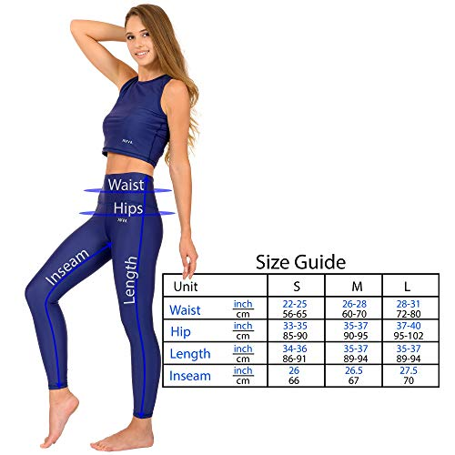 AVVA High Waist Yoga Leggings for Women - Compression Tummy Control Pants for Workout and Running (S, Navy)