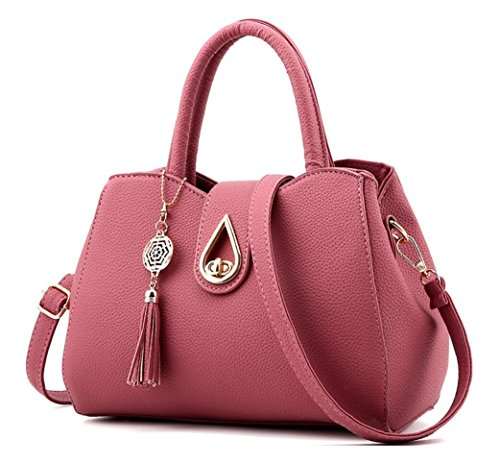 Office Handbags Satchel for Pink Luxury Fashion Bag Turn Purse Women Lady Lock Melord dark Crossbody Tote Top handle 4d47zS