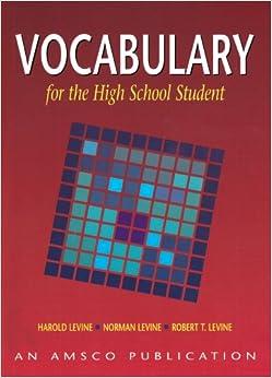Amazon.com: Vocabulary for the High School Student (9781567651157 ...