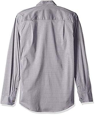 Van Heusen Men's Slim Fit Traveler Stretch Long Sleeve Button Down Black/Khaki/Grey Shirt
