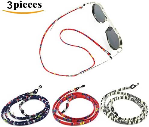 Kalevel 3pcs Eyeglass Chain Eyeglass Holders Eyeglass Strap for Kids Women Men