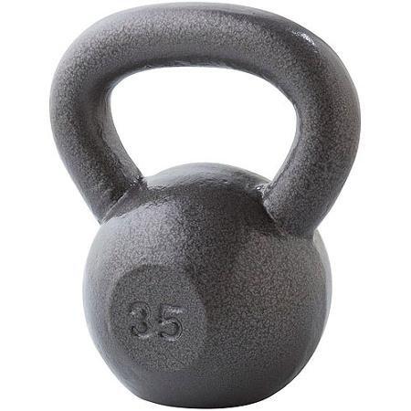 Gold's Gym Kettlebell Gray 35#