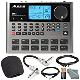 Alesis SR18 18 Bit Portable Drum Machine with Effects and Accessory Bundle w/ Cables + Fibertique Cloth + Mic Windscreen