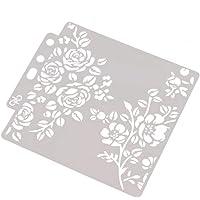 Plantillas para estarcir álbumes de recortes, tarjetas de álbum de estampación, bricolaje, flores