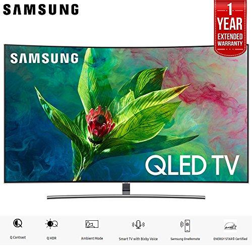 "Samsung 55"" Q7CN QLED Curved Smart 4K UHD TV 2018 Model (QN55Q7CNAFXZA) with 1 Year Extended Warranty"