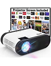 $89 » TMY Projector with 100″ Screen, 6000 Lumens Mini Projector 1080P Full HD Supported, Portable Outdoor Projector Compatible with TV Stick HDMI USB VGA AV, Projector for Outdoor Movies & Home Cinema.