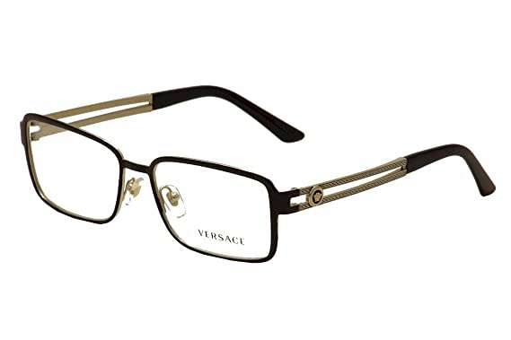 versace ve1236 eyeglass frames 1371 55 blackpale gold