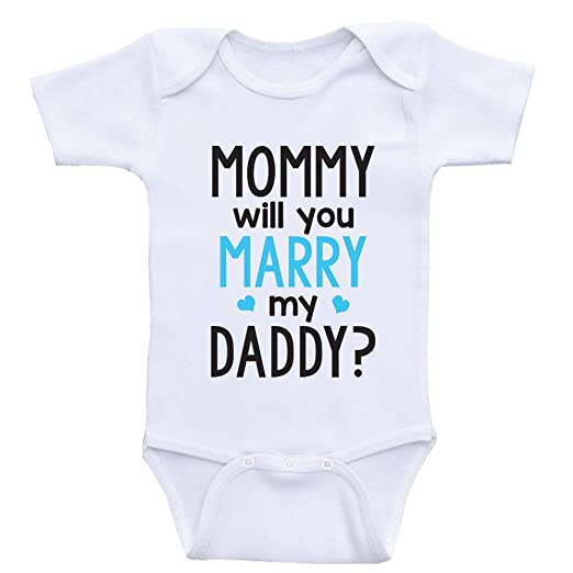 Amazoncom Heart Co Designs Cute Proposal Baby Onesie Mommy Will