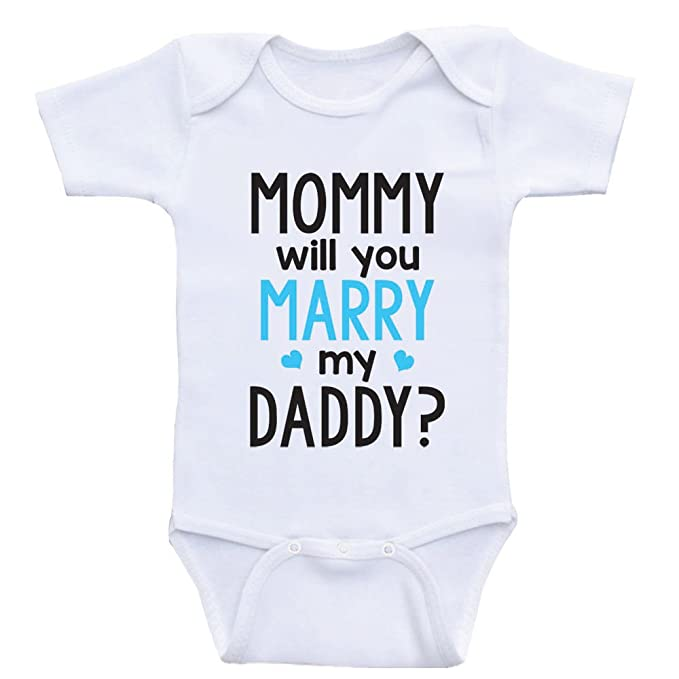 02bdef381 Heart Co Designs Cute Proposal Baby Onesie Mommy Will You Marry My Daddy  Baby Clothes (