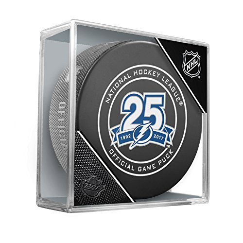 - Inglasco NHL Tampa Bay Lightning Regular Season 960T 2018 Official Game Puck, One Size, Black