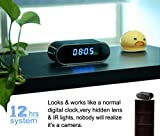 Hidden Spy Camera Clock,HD 1080P WiFi Camera