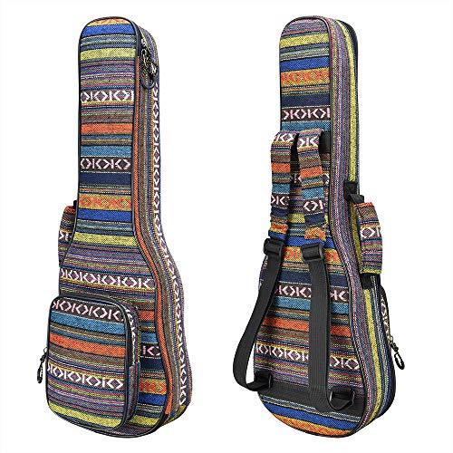 - CLOUDMUSIC Ukulele Case Backpack Bag National Style With 10MM Padding (Soprano With 3D Pocket)