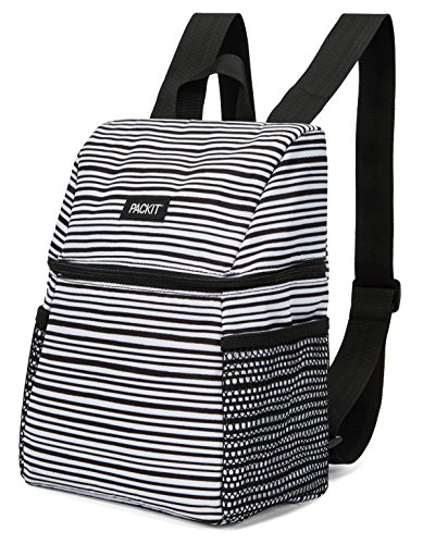 PackIt Freezable Everyday Lunch Backpack, Wobbly Stripes
