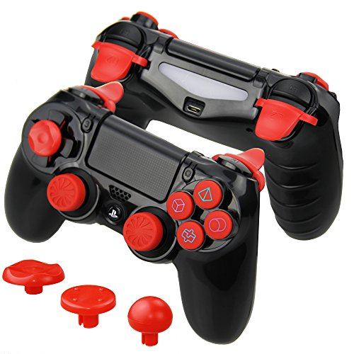 Kombat Kit (Connyam FPS and CQC Performance Kit for Sony PS4 DualShock 4 Controller, Perfect for Call of Duty, Destiny 2, Fallout, Battlefield, Monster Hunter World, Assassin's Creed Origins and more Games!)