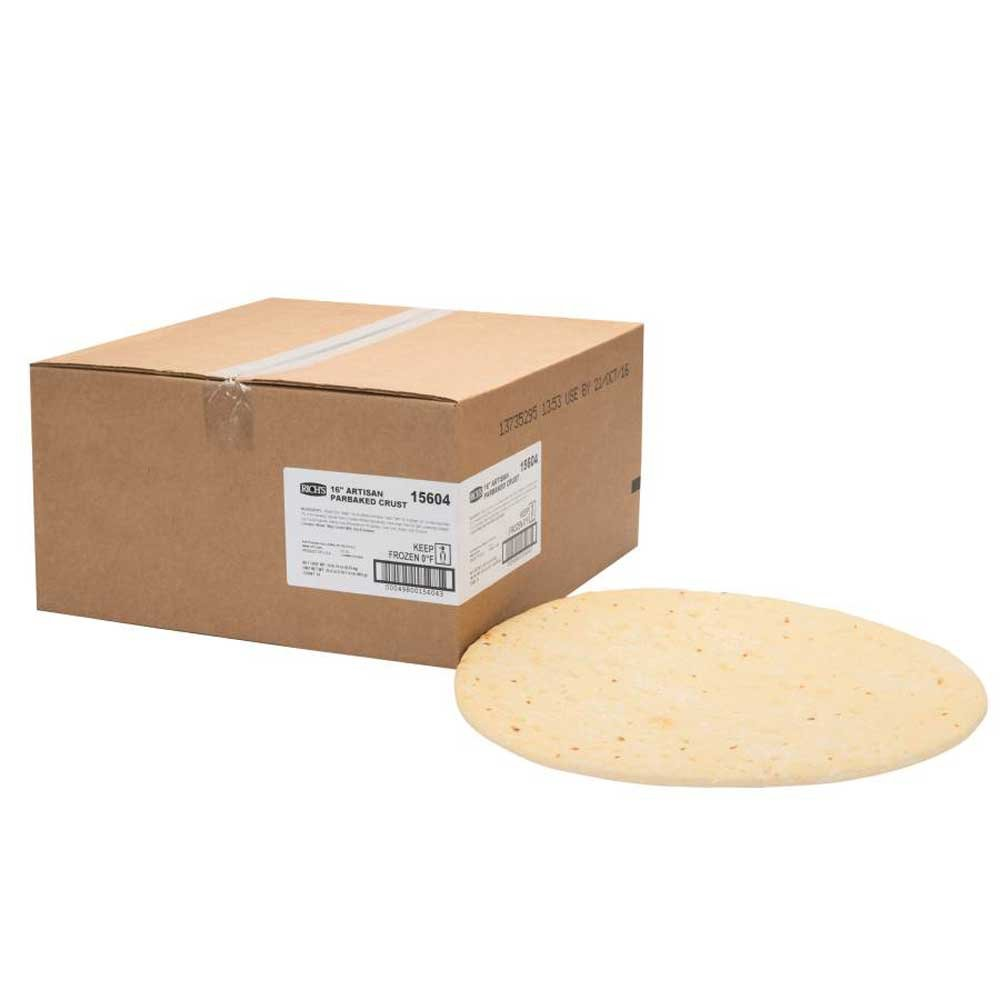Richs Artisan Par Baked 16 inch Pizza Crust, 23.4 Ounce - 10 per case.
