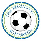 Soccer Back To School Sticker Labels, School Supply Labels, Name Labels For School Supplies