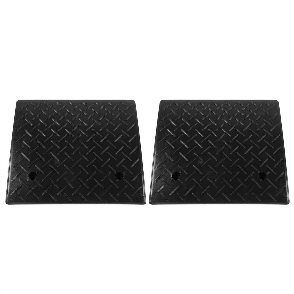 Cocoarm 4'' Rise Threshold Ramp,2pcs Anti-Slip Rubber Curb Threshold Ramp,Heavy Duty Rubber Curb Ramps for Car Vehicle Motorbike Wheelchair Threshold Ramp