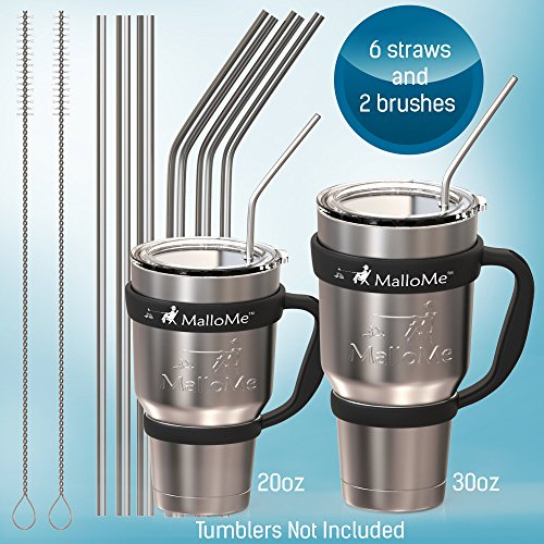 Extra-Long-Stainless-Steel-Metal-Straws-Fits-Yeti-RTIC-SIC-Ozark-Trail-Tumblers-Set-of-6-6mm-8mm-10mm-wide-with-6-Soft-Silicon-Tips-2-Free-Cleaning-Brushes