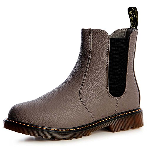 Femmes Topschuhe24 Grisbrun Bottines Chelsea Boots wp8pnYXZq
