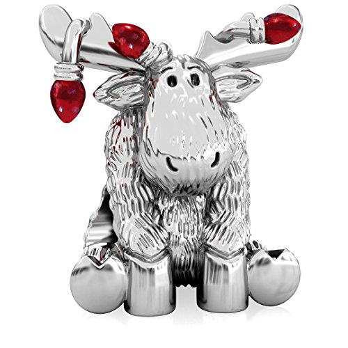 Authentic BELLA FASCINI Christmas Moose Tangled in Lights Charm Bead - 925 Silver - Fits Bracelets - Red