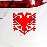 Stickers Voor Auto'S 10X9.6 Cm Albanese Vlag Eagle Auto Sticker Reflecterende Decal Waterdichte Stickers Op Auto…