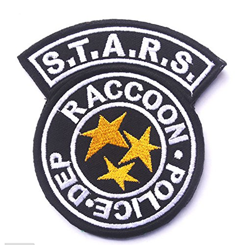 KingNew Resident Evil S.T.A.R.S. Embroidery Tactical Military Patches Badges for Clothes(Black) - Resident Item Cart