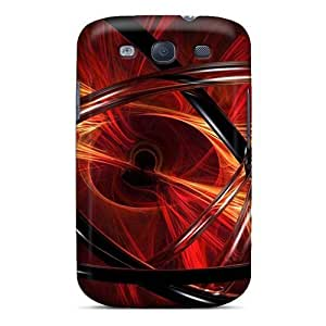 Tough Galaxy MeG5192wyLV Cases Covers/ Cases For Galaxy S3(3d View Abstract Red)
