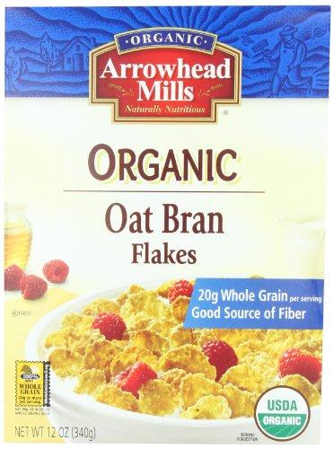 Arrowhead Mills Organic Oat Bran Flakes, 12-Ounce Boxes (Pack of - Mills Nut Arrowhead Butters
