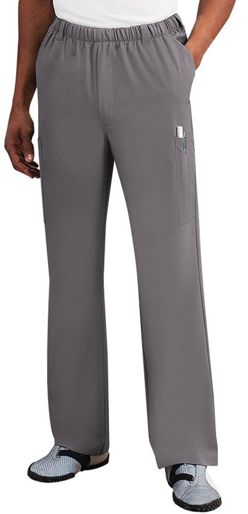 Classic Fit Collection by Jockey Men's 7 Pocket Scrub Pant Large Pewter