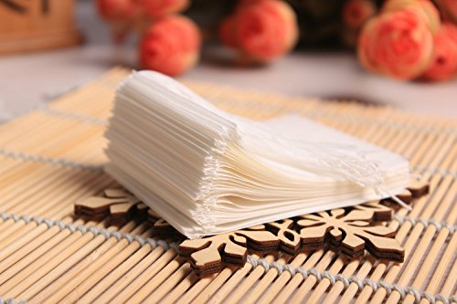 Funkymall Pack of 100 3.54 inch*4.92 inch Empty String Drawstring Filter Paper Tea Bags for Loose Tea Herbs Spice Bouquet Garni Potpourri Bags Gcircus 4335466271