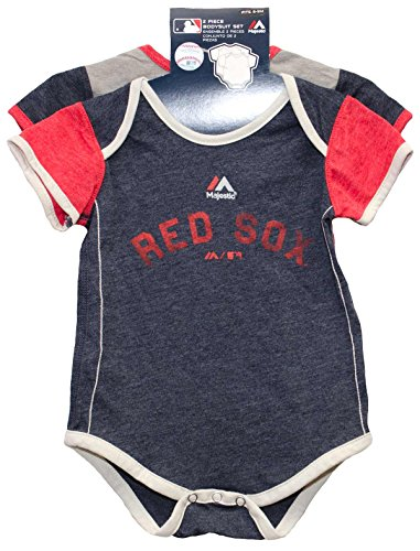 Boston Red Sox Vintage Baby / Infant Go Team 2 Piece Creeper Set 0-3 Months