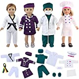 ZITA ELEMENT Quality 19 Pcs Clothes Outfits for 18 Inch Girl Doll Cosplay