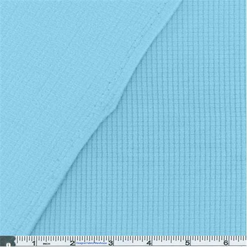 Clear Blue Polartec Stretch Power Grid Fleece, Fabric Sold By