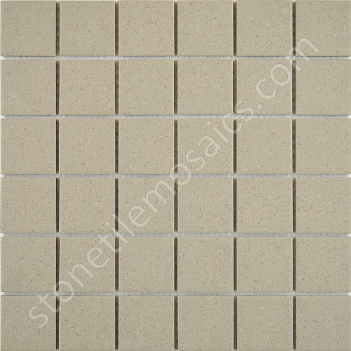 Boxes Porcelain Mosaic Tiles - Vogue Beige Speckled Unglazed Porcelain Mosaic Square 2x2 Inch Porcelain Floor & Wall Tile Designed in Italy (Box of 5 sq. ft.)