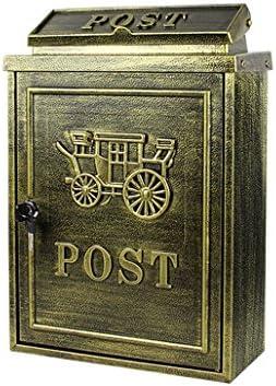 メールボックス ヨーロッパのレターボックス屋外雨水別荘メールボックス壁掛けロック郵便ポスト大農村クリエイティブレターボックス