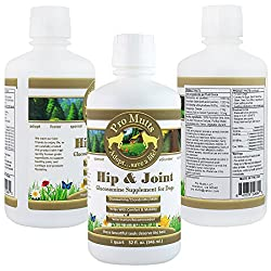 Pro Mutts Hip & Joint Liquid Glucosamine Supplement For Dogs. 32 Fl Oz. Glucosamine, Chondroitin, Msm & Hyaluronic Acid. Natural Arthritis & Hip Dysplasia Pain Relief, Great Mobility, Shiny Coat.