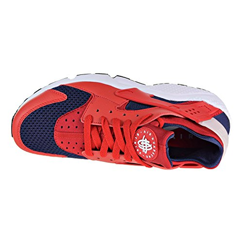 Air Huarache Trainers Nike Leather White Textile Mens Red ZApw5