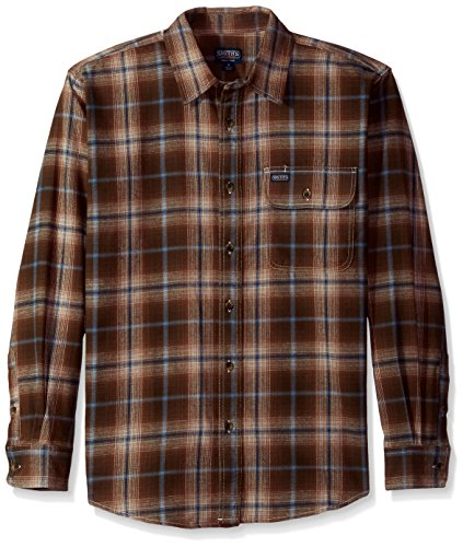 Smith's Workwear Men's 6 oz 2 Pocket Flannel Plaid Shirt, Timber, Large ()