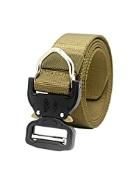 Molle Tactical Belt Heavy Duty Rigger D-Ring Waist Belt Military Nylon Web Band with Metal Buckle