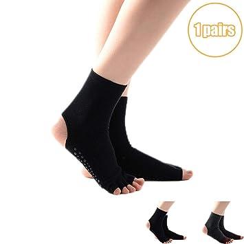DIMPLEYA Calcetines De Pilates para Mujer Calcetines De Yoga ...