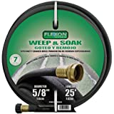 Flexon WS5825 Weep and Soak Soaker Hose, Black, 25-Feet