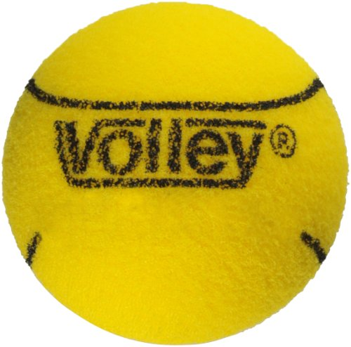 Volley Foam 85kg Uncoated Tennis and Paddleball Ball, Yellow, 2-3/4