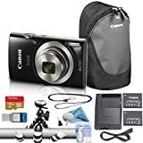 Canon PowerShot ELPH 180/IXUS 185 Digital Camera Bundle (Advanced, Black)