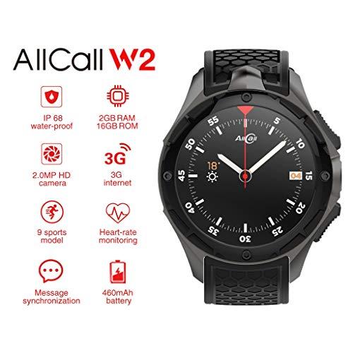 AllCall W2 3G Android 7.0 - Reloj Inteligente de 4 núcleos (2 + 16 GB)