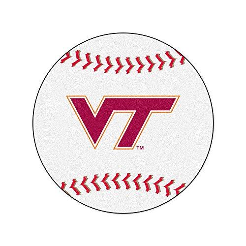 FANMATS NCAA Virginia Tech Hokies Nylon Face Baseball Rug