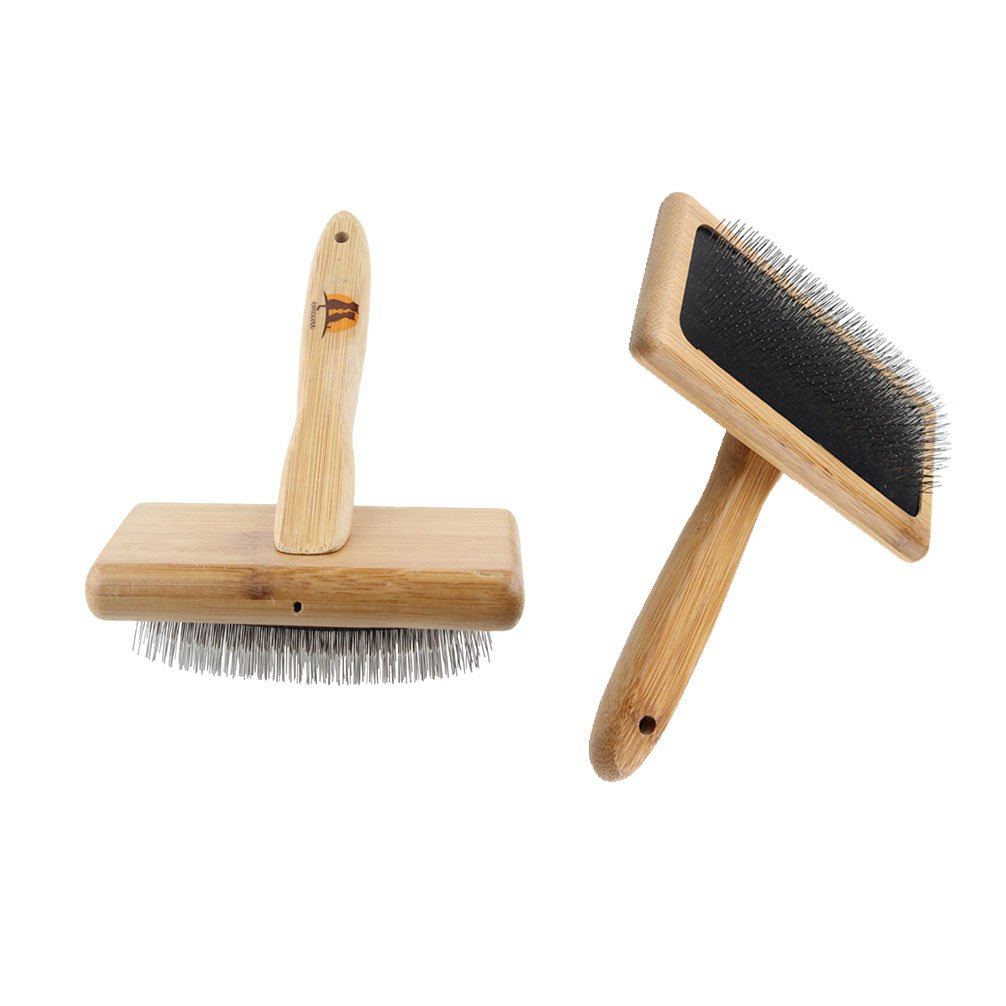 Emours Pets Pin Grooming Brush Hair Removal Open Knot Rake Massage Comb for Long Hair Dog