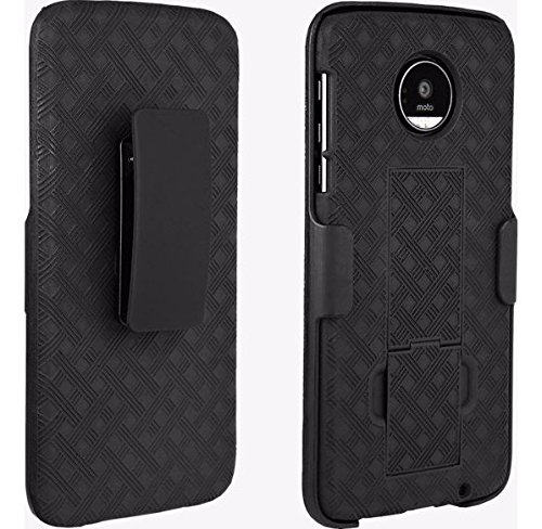 Verizon OEM Shell Holster Stand Combo for Motorola Moto Z Droid - Black (Stand Combo Holster)