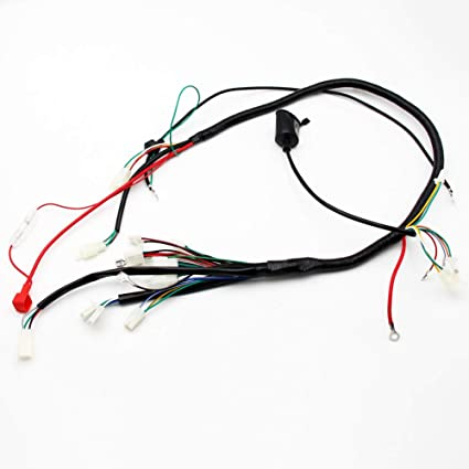 amazon com gy6 wireloom wiring harness assembly for scooter 125cc rh amazon com